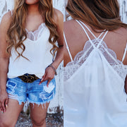 The Lace Tank - Off White - Chic Threads Clothing Co.