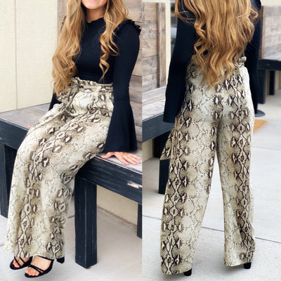 Snake Palazzo Pants - Chic Threads Clothing Co.