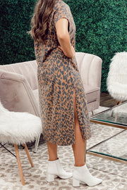 Madre Leopard Graphic Dress