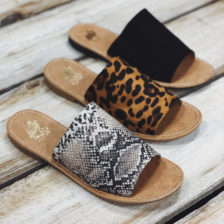 The Sahara Sandals - Leopard - Chic Threads Clothing Co.