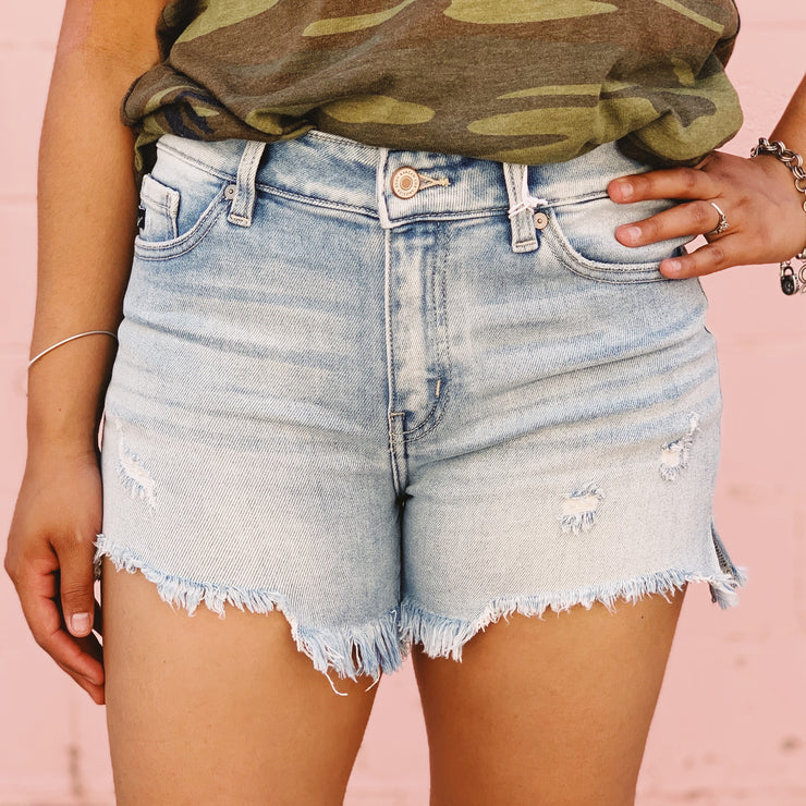 Stardust Distressed Shorts