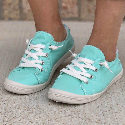 Lucy Sneakers - Turquoise - Chic Threads Clothing Co.