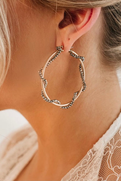 The Crystal Wrapped Hoops