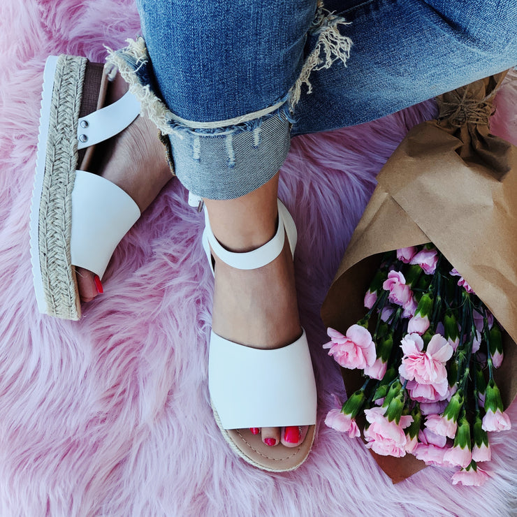 Off White Platform Sandals - Chic Threads Clothing Co.