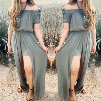 The Wanderer Romper Dress - Chic Threads Clothing Co.