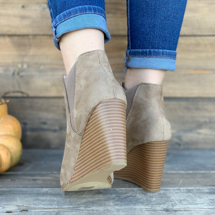 Paige Wedge Booties - Chic Threads Clothing Co.