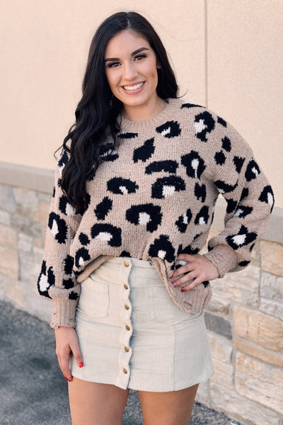 Wild About You Leopard Sweater