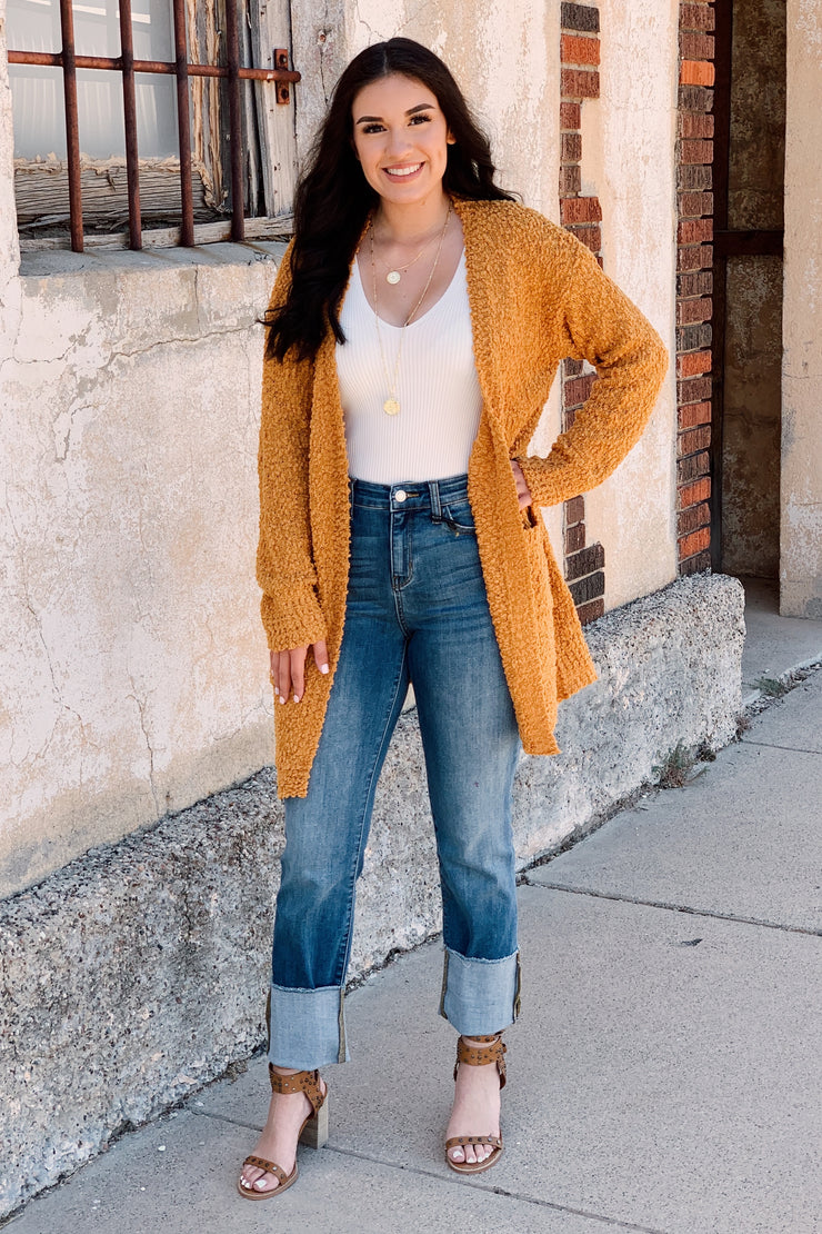 Keep it Cozy Cardigan - Mustard