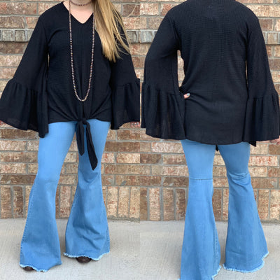 PLUS Fireside Top - Black - Chic Threads Clothing Co.