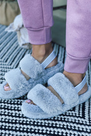The Snuggled Up Slippers - Grey