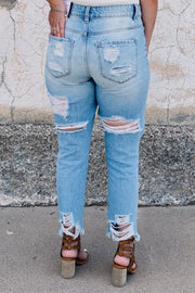 Street Style Mom Jeans