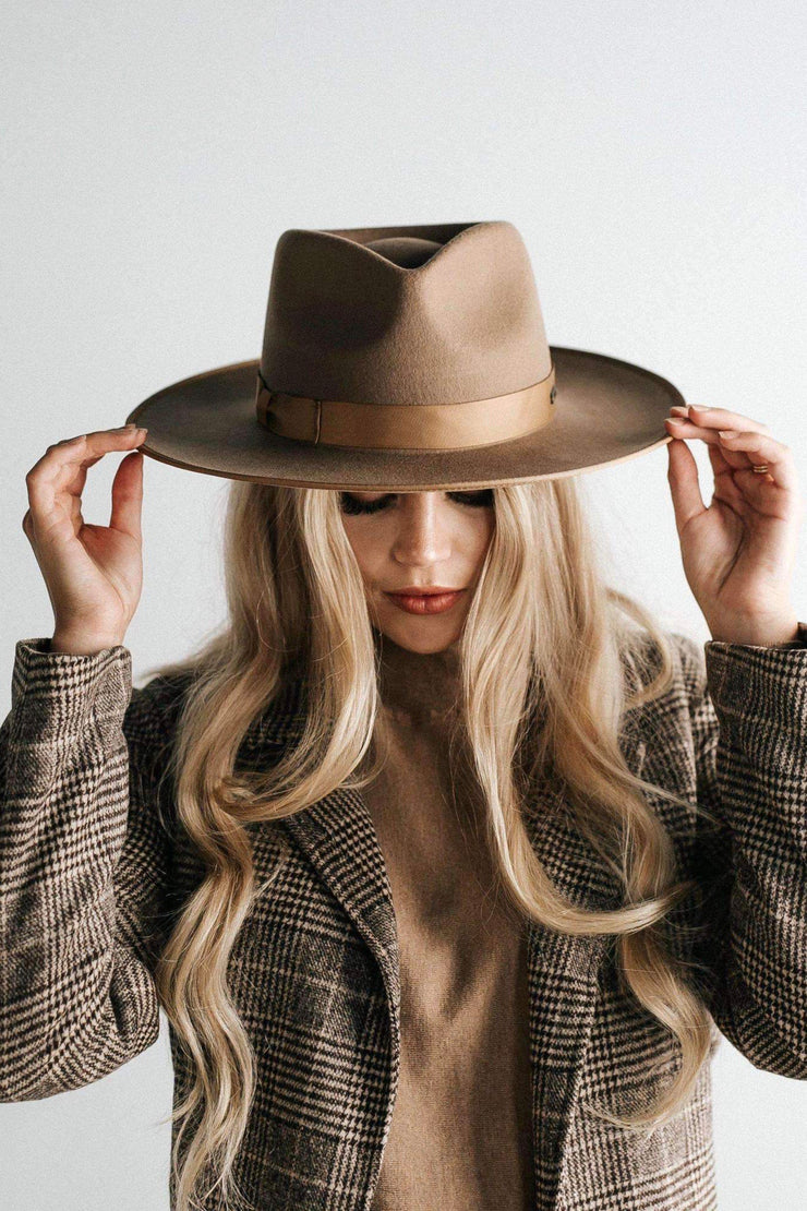Gigi Pip Monroe Rancher Hat - Brown