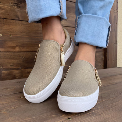 Timbre Slip-on (Gold) - Chic Threads Clothing Co.