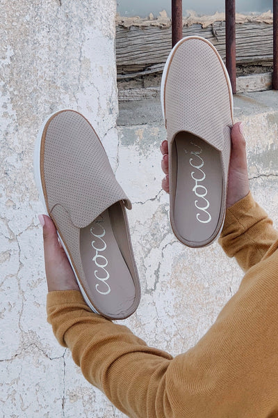 The Dakota Slip Ons - Taupe