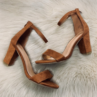Kate Block Heel -Chestnut - Chic Threads Clothing Co.