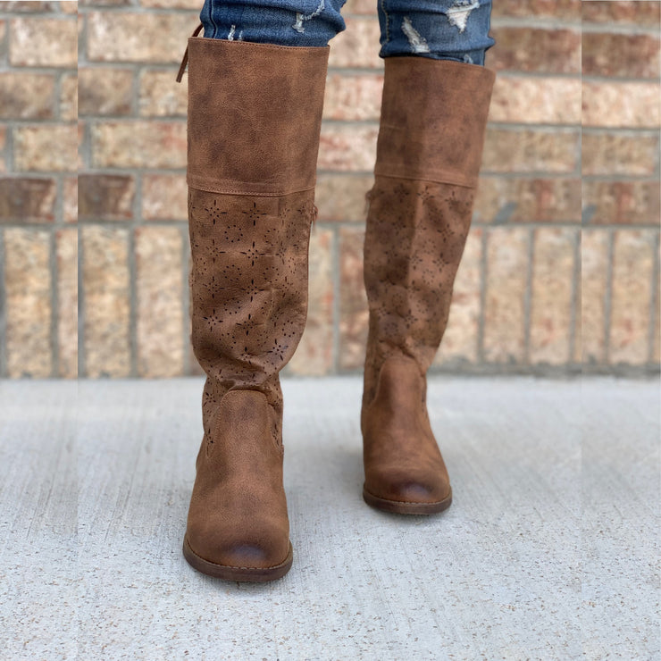 Leather & Lace Boots - Chic Threads Clothing Co.