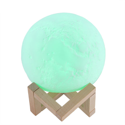 Rechargeable Magic 3D Printing LED Moon Lamp Remote Touch Control Night Light