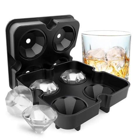 Diamond Shape 3D Silicone Ice Cube Making Tray