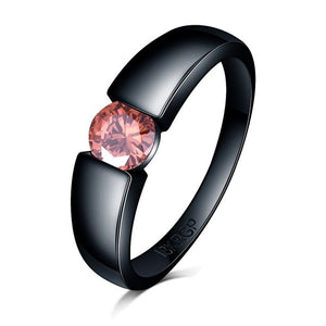 Charming Zircon   Black Gold Filled