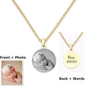 Personalized Engraved Photo Pendants