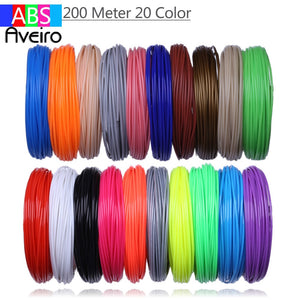 refill For 3D Printing Pen 10 meters x 10 Colors = 100 Meters