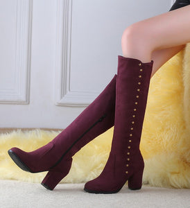 fashion Nubuck Leather   boots