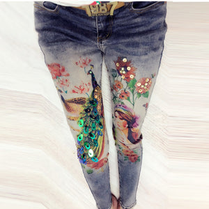 3D Printing Jeans Sequined Stretch
