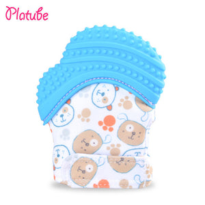 Baby Safe Silicone Teethers Glove Mitten Teething Candy Wrapper Sound