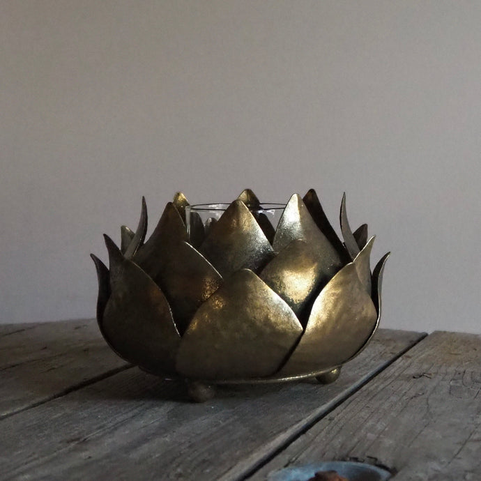 Gold Artichoke Tealight Holder