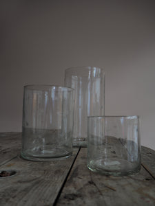 Etched Star Glass Vase