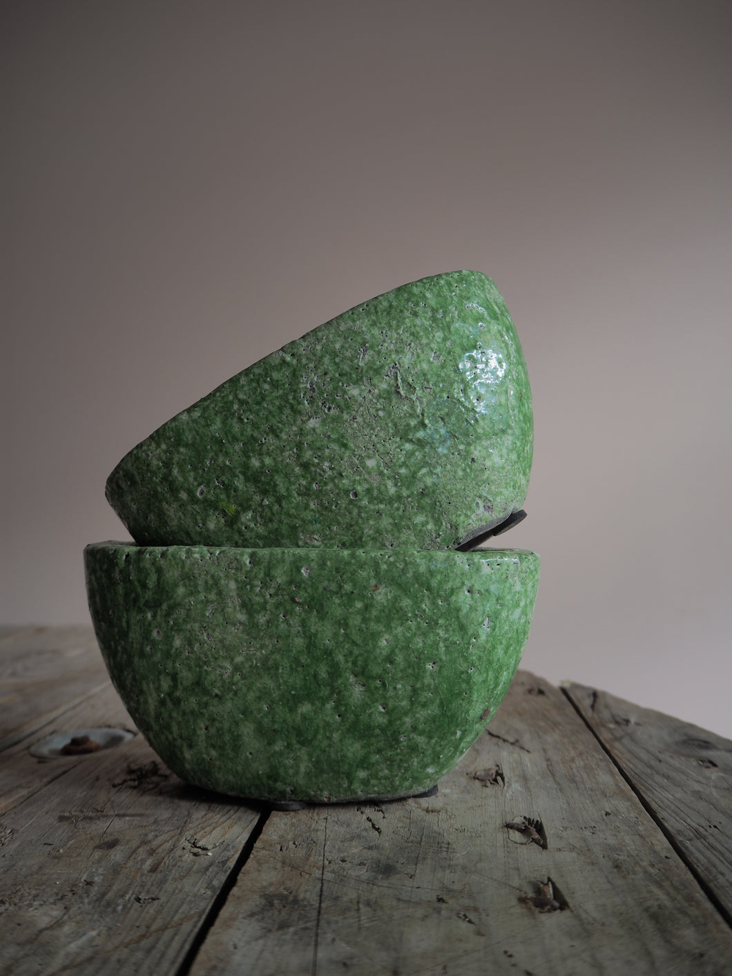 Moss Green Oval Planter