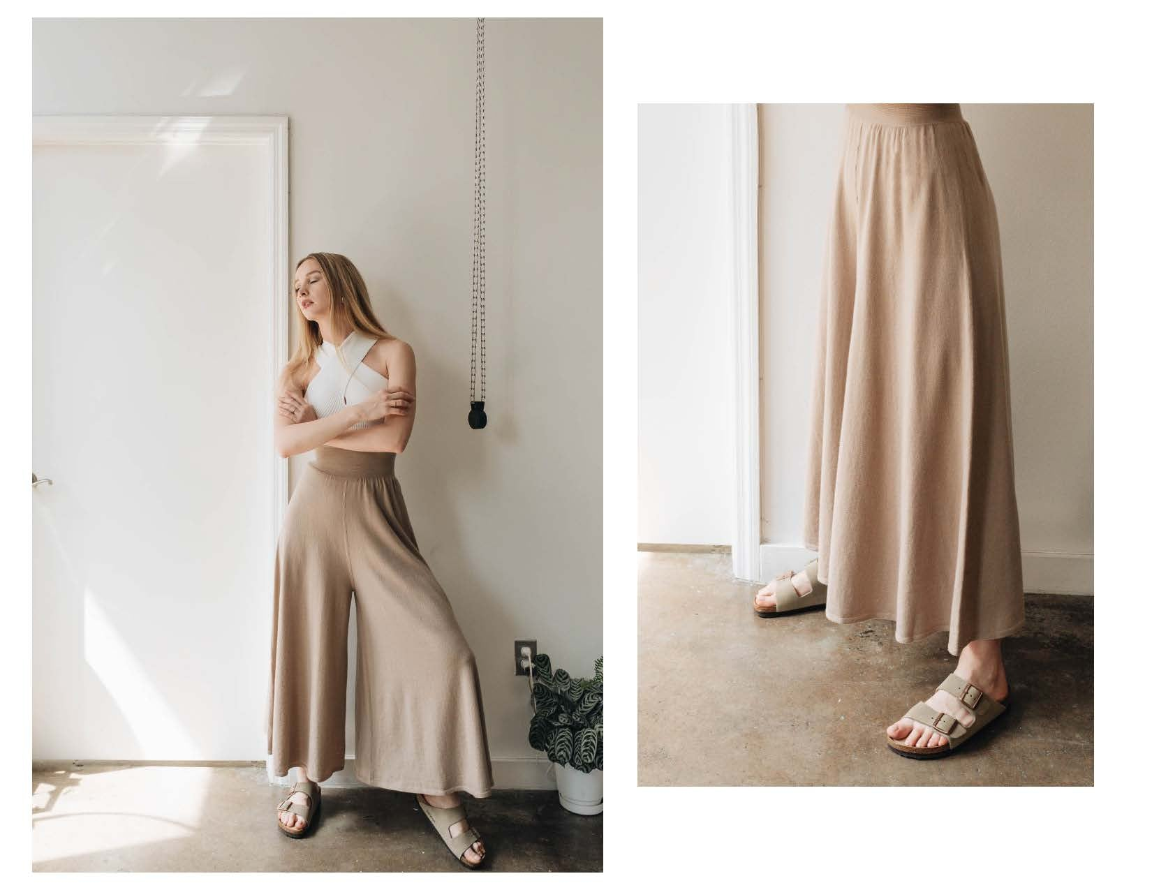 ELMNTL NYC Sustainable Fashion Wide Pants