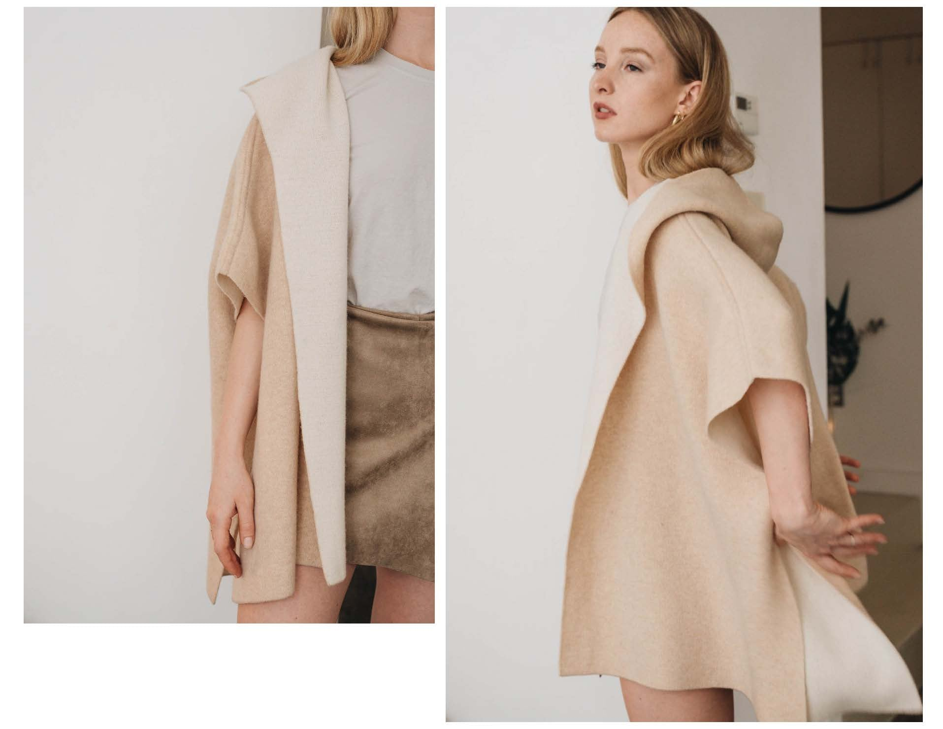 ELMNTL NYC Sustainable Fashion Poncho Cape