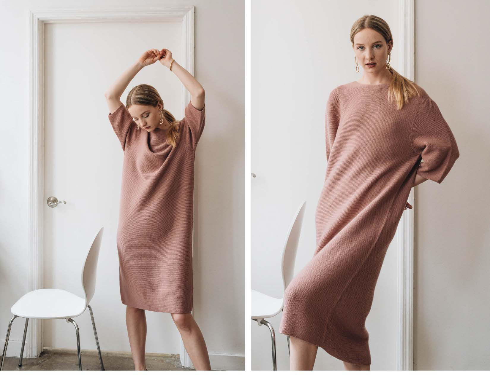 ELMNTL NYC Sustainable Fashion Sweater Dress