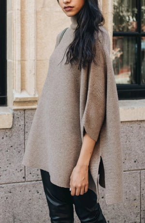 ELMNTL NYC Sustainable fashion poncho sweater