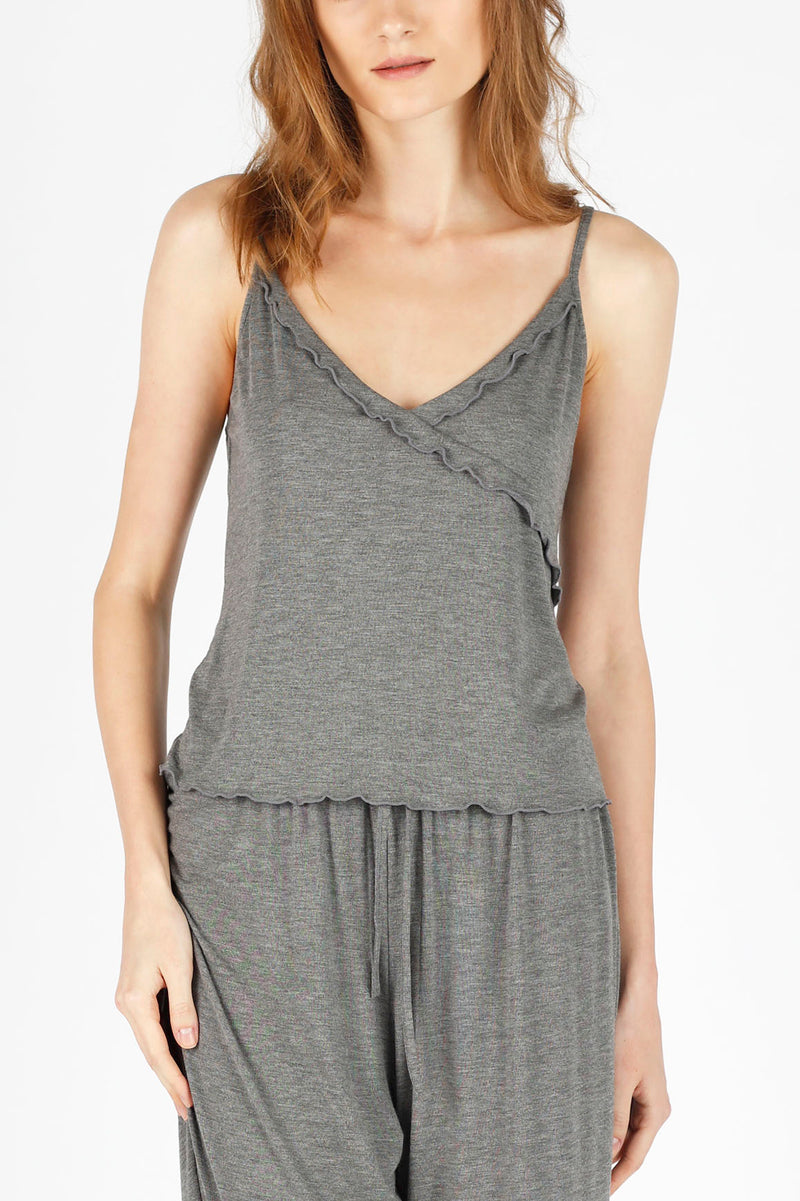 All-Day-Chic PJ Top - Charcoal