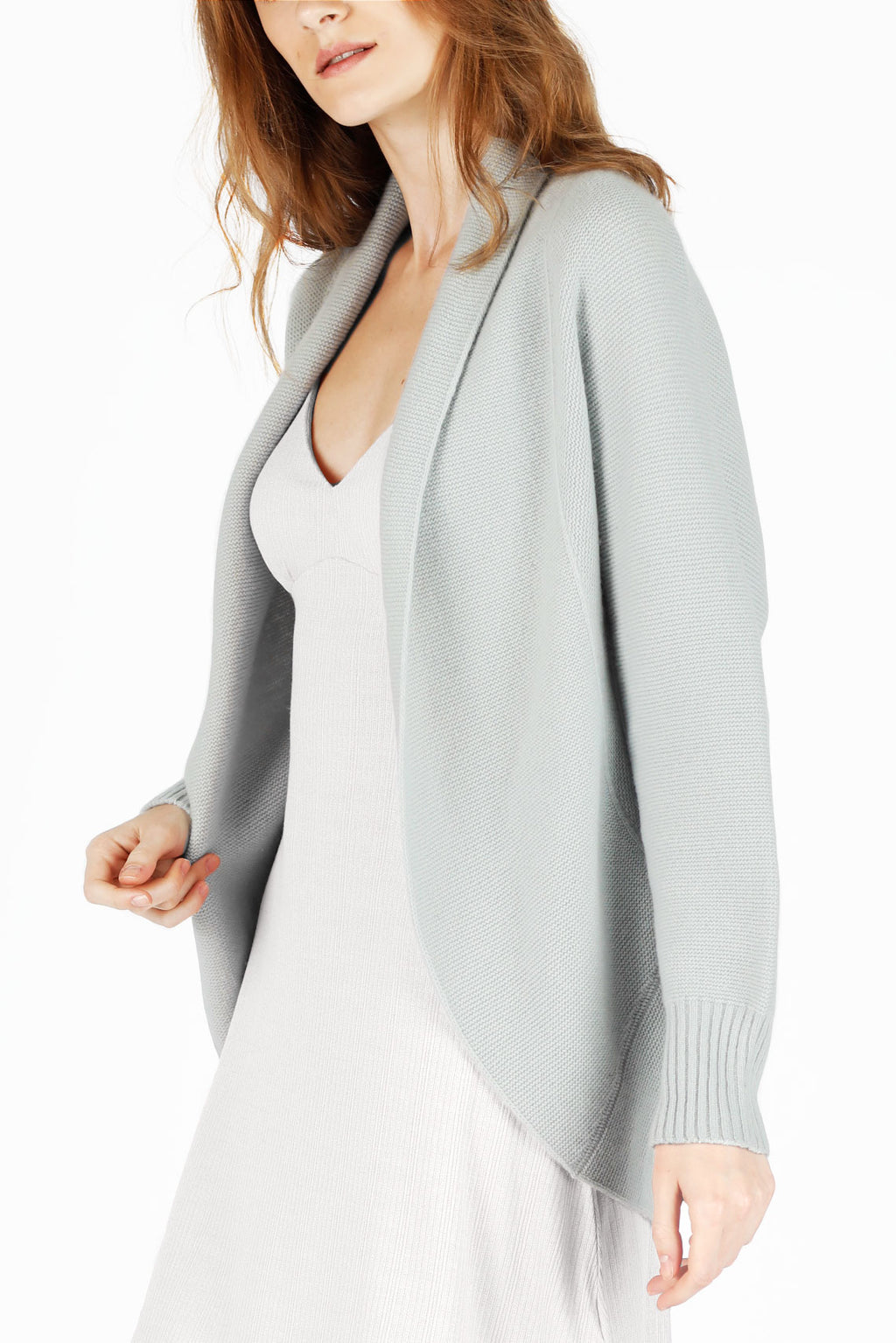 Soft Blue 3D Printed Cashmere Cardigan