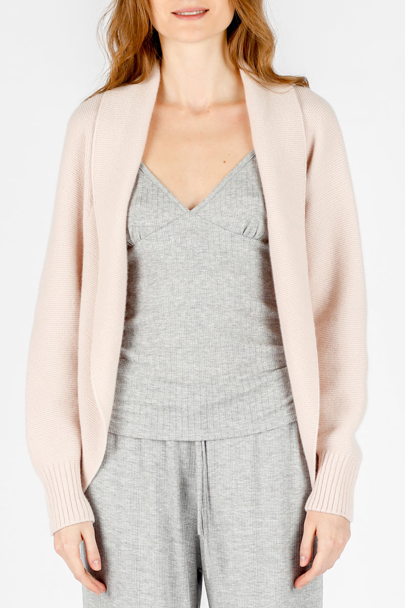 Soft Pink 3D Printed Cashmere Cardigan