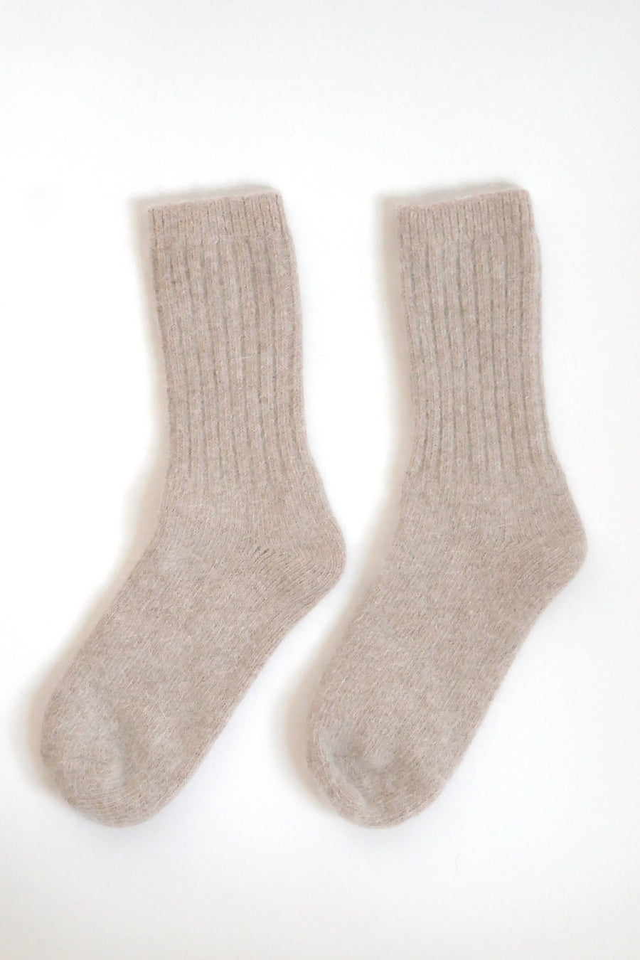 Super Soft Wool Socks - Beige
