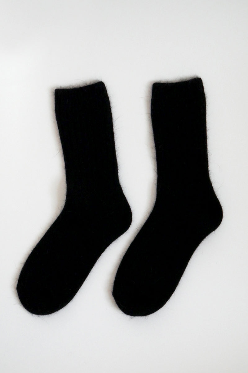 Super Soft Wool Socks - Black
