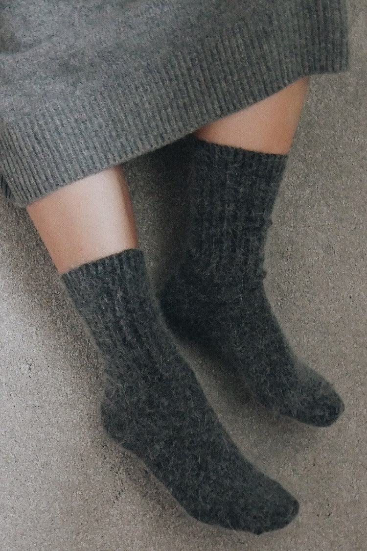 Super Soft Wool Socks - Charcoal