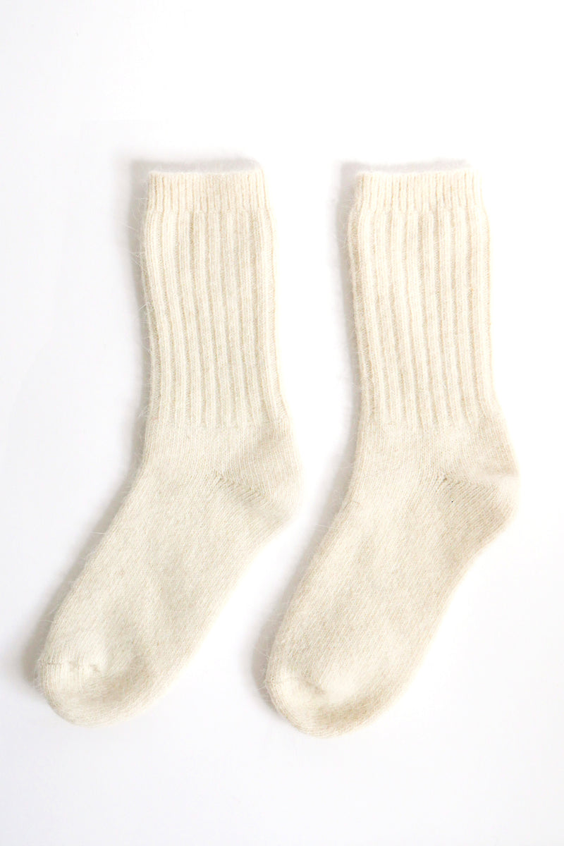 Super Soft Wool Socks - Cream