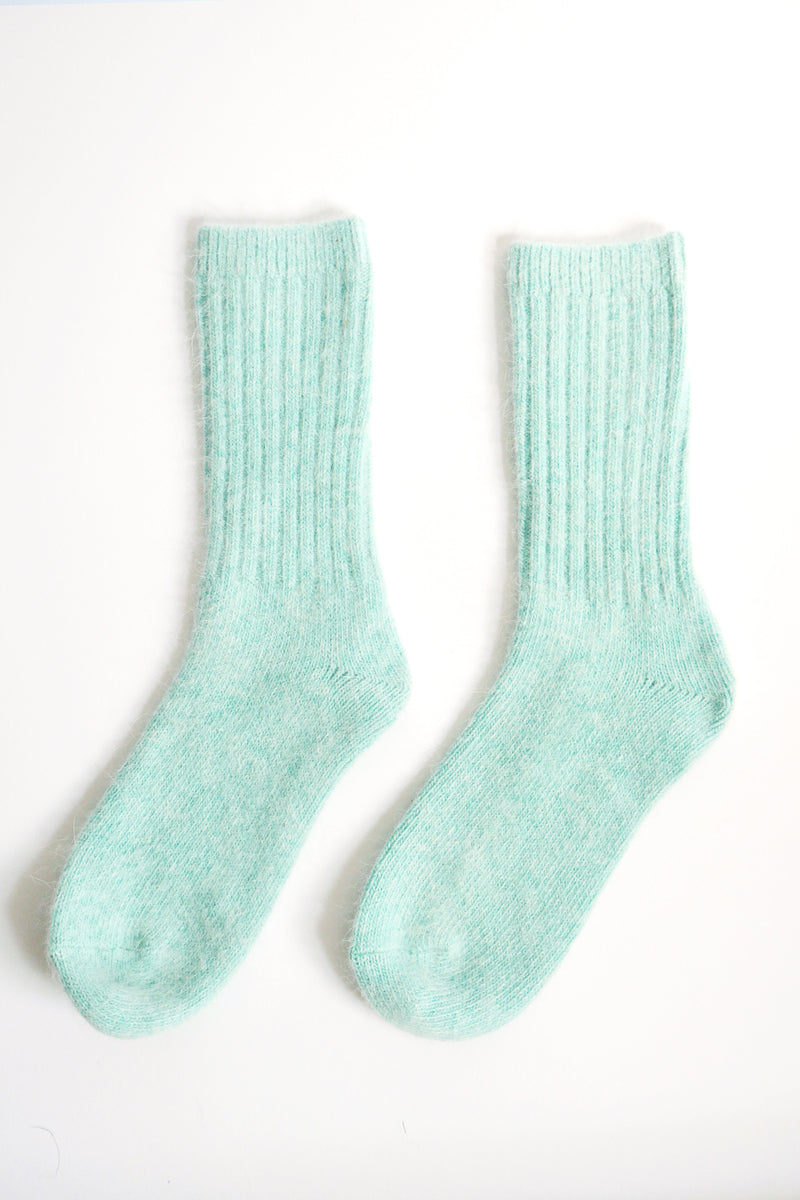 Super Soft Wool Socks - Mint