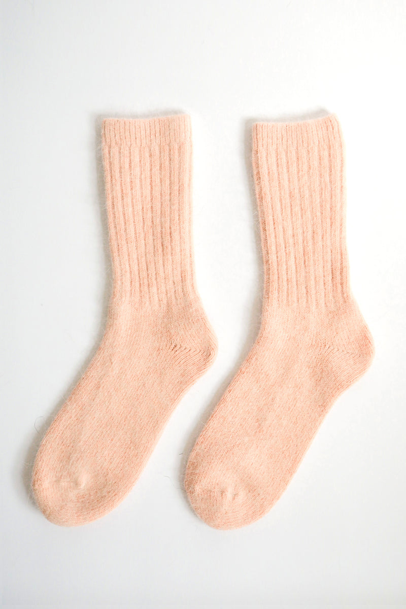 Super Soft Wool Socks - Peach