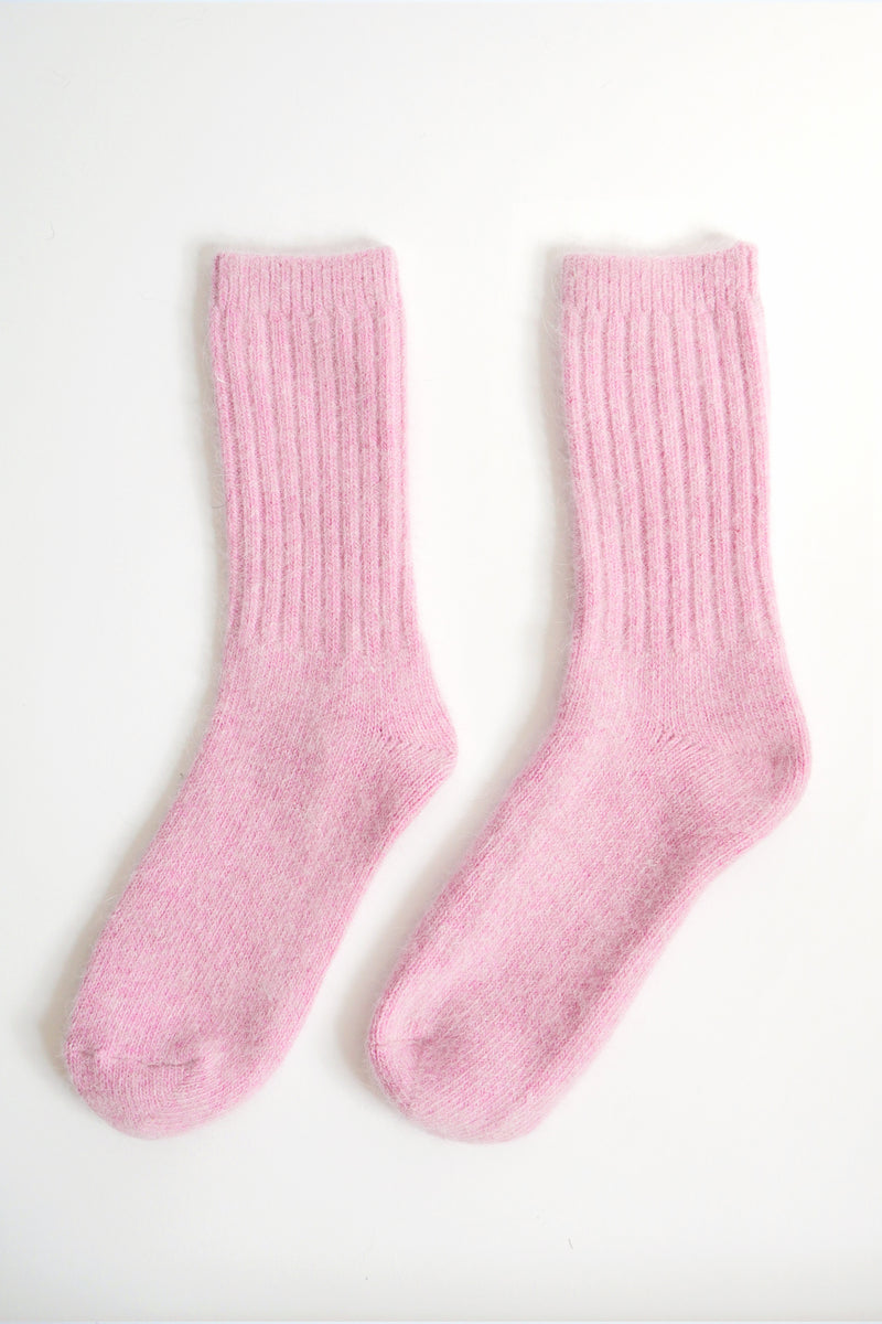 Super Soft Wool Socks - Pink
