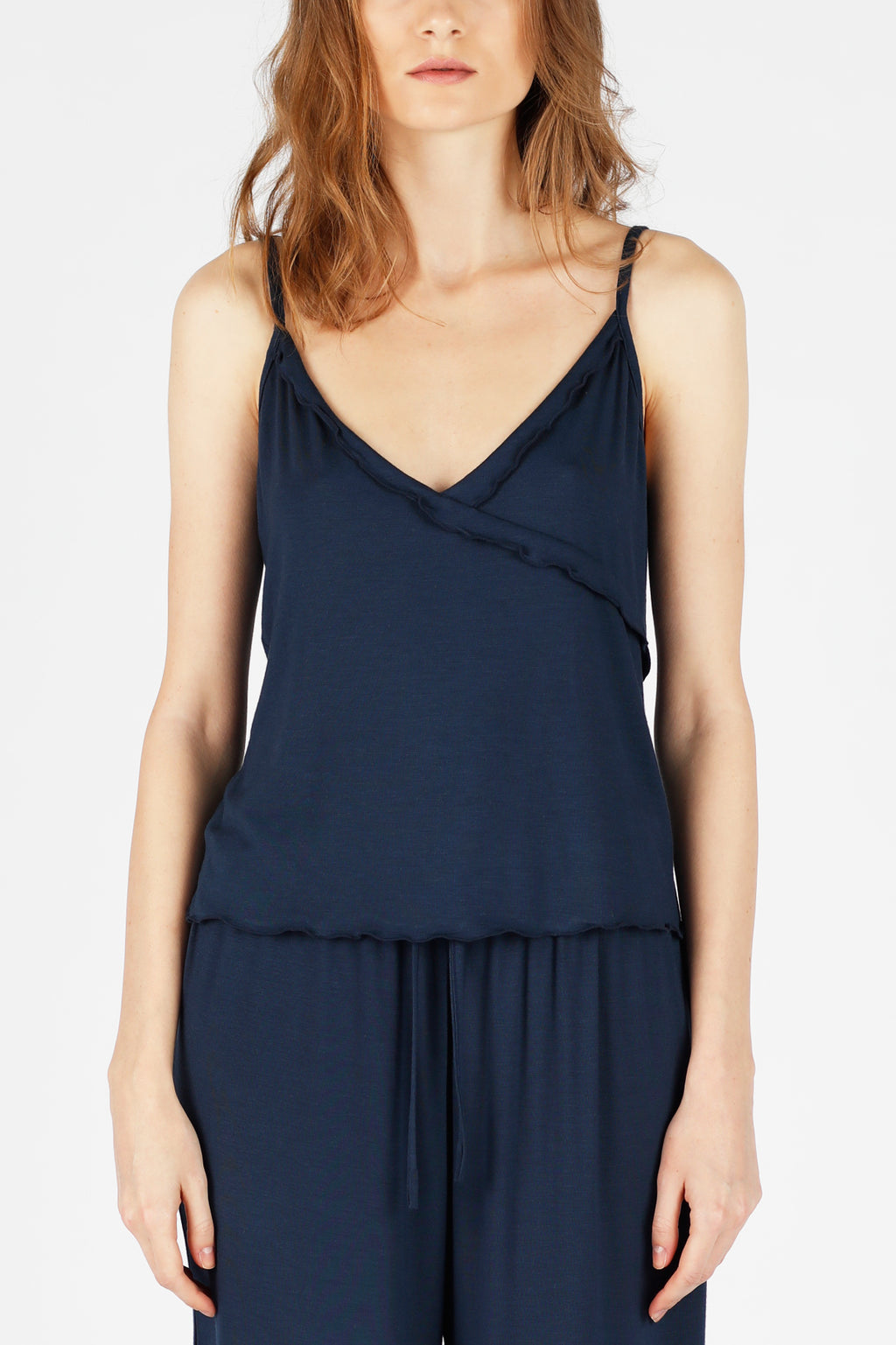 All-Day-Chic PJ Top - Navy Blue
