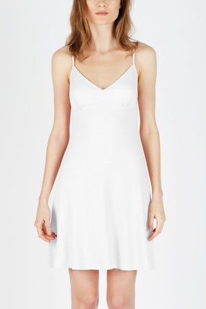 Double Layer Nightgown - Pure White