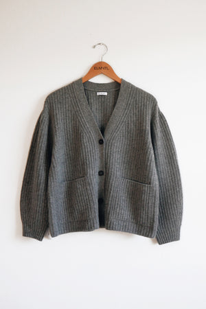 Button Down Cardigan Grey