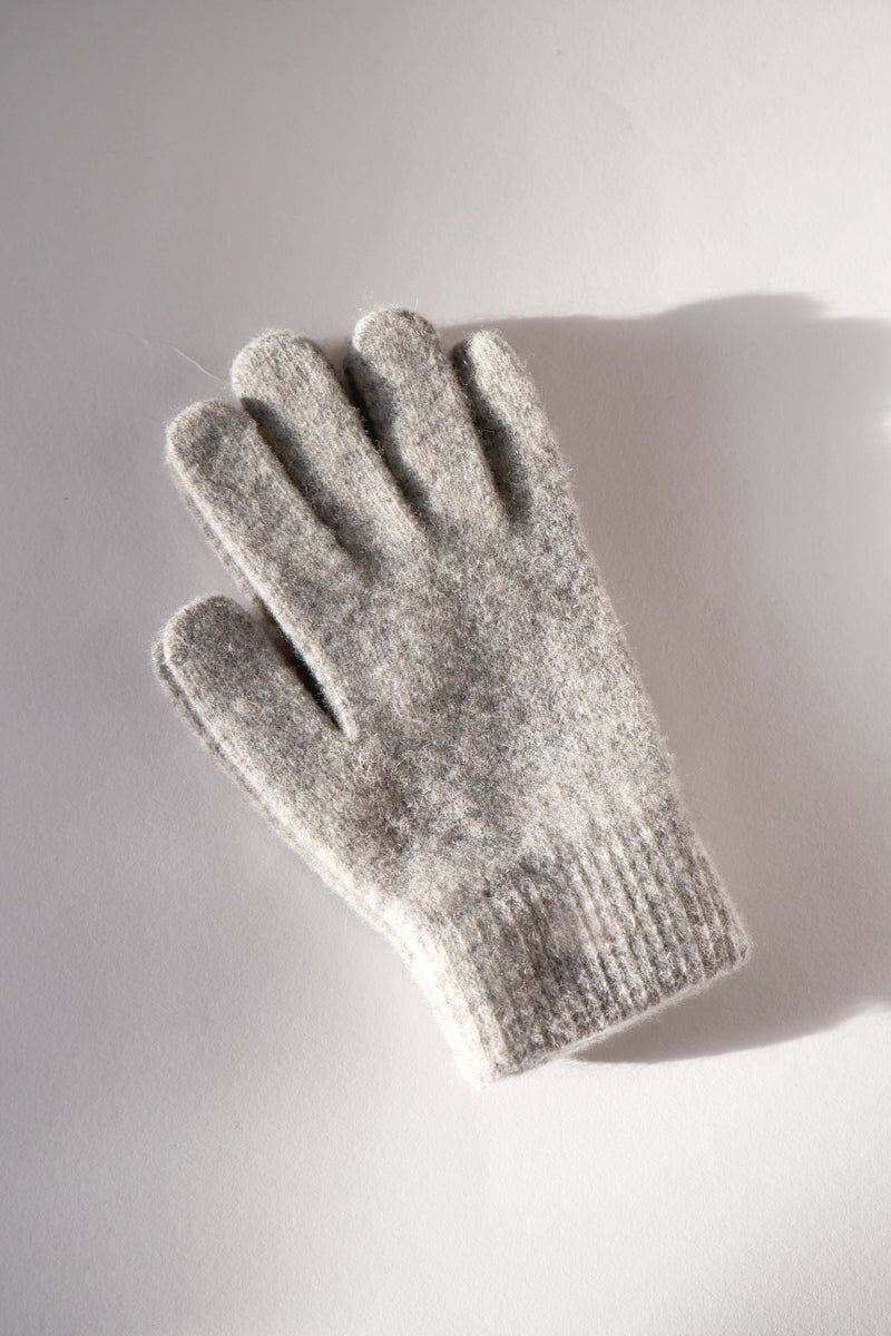 Wool Gloves - Heather Grey