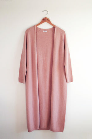 Wrap-in-Luxury Long Cardigan -Pink